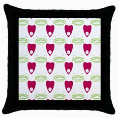 Talking Board Black Throw Pillow Case