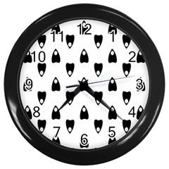 Talking Board Wall Clock (Black)