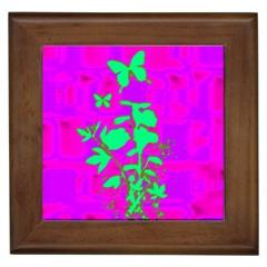 Butterfly Framed Ceramic Tile