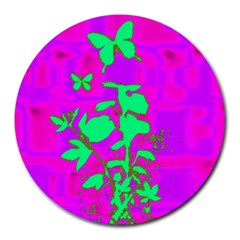 Butterfly 8  Mouse Pad (round)