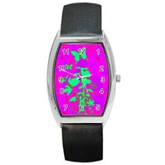 Butterfly Tonneau Leather Watch