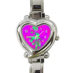 Butterfly Heart Italian Charm Watch