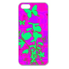 Butterfly Apple Seamless iPhone 5 Case (Clear)