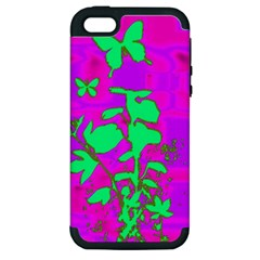 Butterfly Apple iPhone 5 Hardshell Case (PC+Silicone)