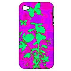 Butterfly Apple iPhone 4/4S Hardshell Case (PC+Silicone)