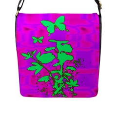 Butterfly Flap Closure Messenger Bag (large)