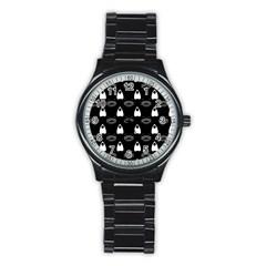 Talking Board Sport Metal Watch (Black)