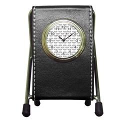 Talking Board Stationery Holder Clock