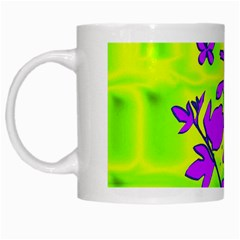 Butterfly Green White Coffee Mug