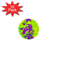 Butterfly Green 1  Mini Button (10 Pack)