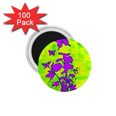 Butterfly Green 1.75  Button Magnet (100 pack)