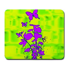Butterfly Green Large Mouse Pad (Rectangle)
