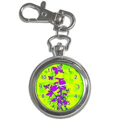 Butterfly Green Key Chain & Watch