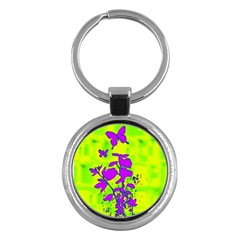 Butterfly Green Key Chain (Round)