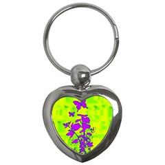 Butterfly Green Key Chain (Heart)