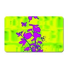 Butterfly Green Magnet (Rectangular)