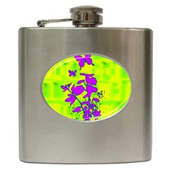 Butterfly Green Hip Flask