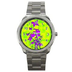 Butterfly Green Sport Metal Watch