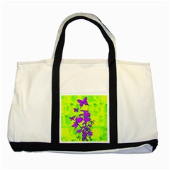 Butterfly Green Two Toned Tote Bag