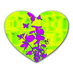 Butterfly Green Mouse Pad (Heart)