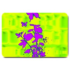 Butterfly Green Large Door Mat