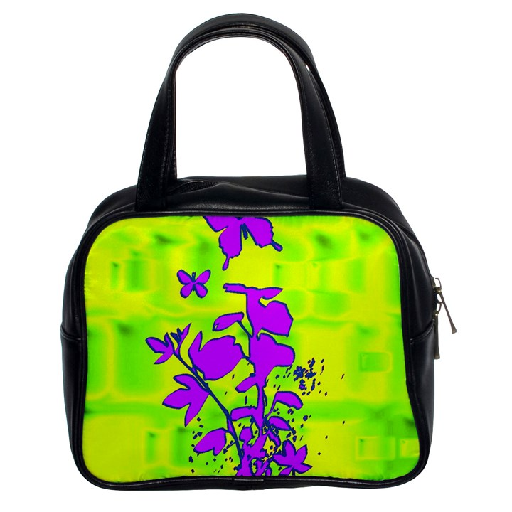 Butterfly Green Classic Handbag (Two Sides)