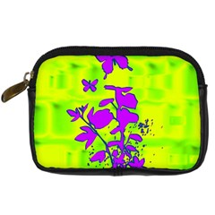 Butterfly Green Digital Camera Leather Case