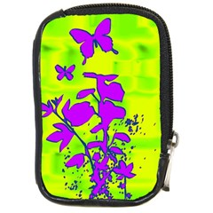 Butterfly Green Compact Camera Leather Case
