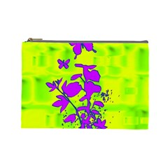 Butterfly Green Cosmetic Bag (large)