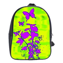 Butterfly Green School Bag (large)
