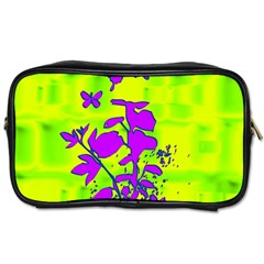 Butterfly Green Travel Toiletry Bag (Two Sides)