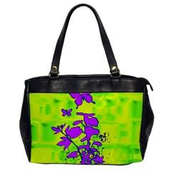 Butterfly Green Oversize Office Handbag (One Side)