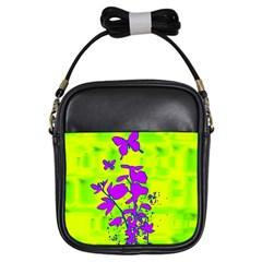 Butterfly Green Girl s Sling Bag