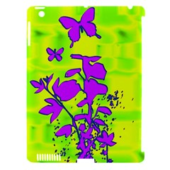 Butterfly Green Apple Ipad 3/4 Hardshell Case (compatible With Smart Cover)