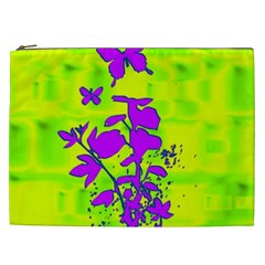 Butterfly Green Cosmetic Bag (xxl)