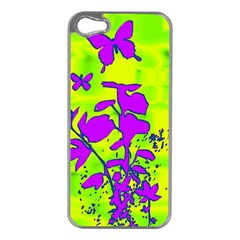 Butterfly Green Apple Iphone 5 Case (silver)