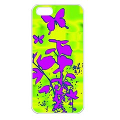 Butterfly Green Apple iPhone 5 Seamless Case (White)