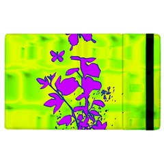 Butterfly Green Apple iPad 2 Flip Case
