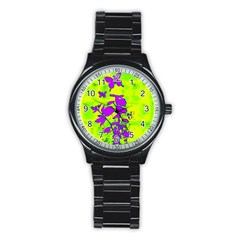 Butterfly Green Sport Metal Watch (Black)