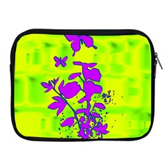 Butterfly Green Apple Ipad Zippered Sleeve