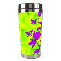 Butterfly Green Stainless Steel Travel Tumbler