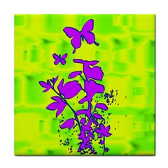 Butterfly Green Ceramic Tile
