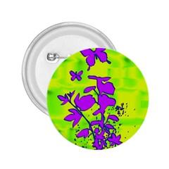 Butterfly Green 2.25  Button