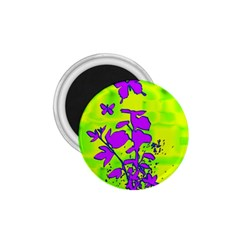 Butterfly Green 1.75  Button Magnet