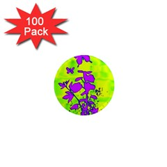 Butterfly Green 1  Mini Button Magnet (100 pack)
