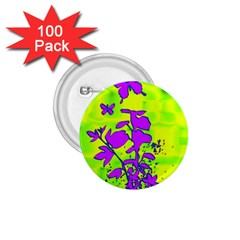 Butterfly Green 1.75  Button (100 pack)