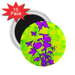 Butterfly Green 2.25  Button Magnet (10 pack)
