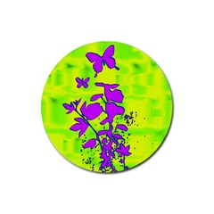 Butterfly Green Drink Coaster (round)