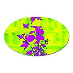 Butterfly Green Magnet (oval)