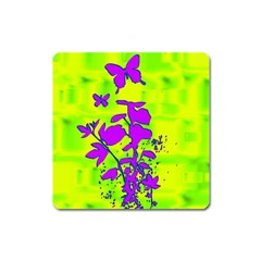 Butterfly Green Magnet (Square)